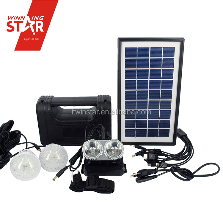 Africa Solar Energy Home System/Solar Home Lighting Kit/Portable DC Solar Kits For Camping