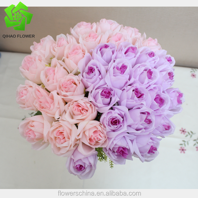 18 heads rose bouquet artificial silk flowers marriage decoraion floral supplies