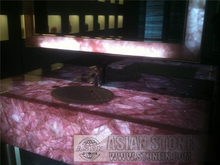 Translucent Agate Semiprecious Stone Bath Top