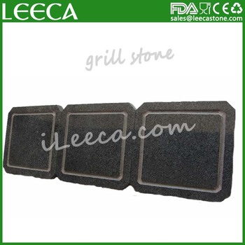 Leeca high quality bbq stone basalt grill stone for steak