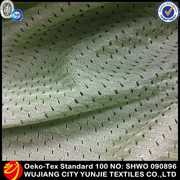 2014 new fashionable 100 polyester bamboo mesh fabric