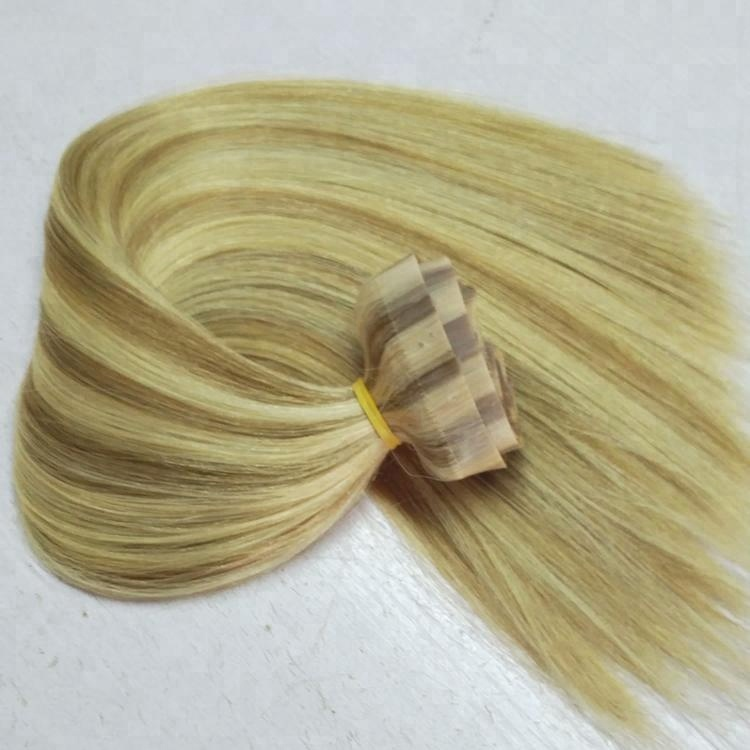 Piano Color Hair Extension in Tape Weft Seamless Clip in Hair Extensions 9pcs 23Clips