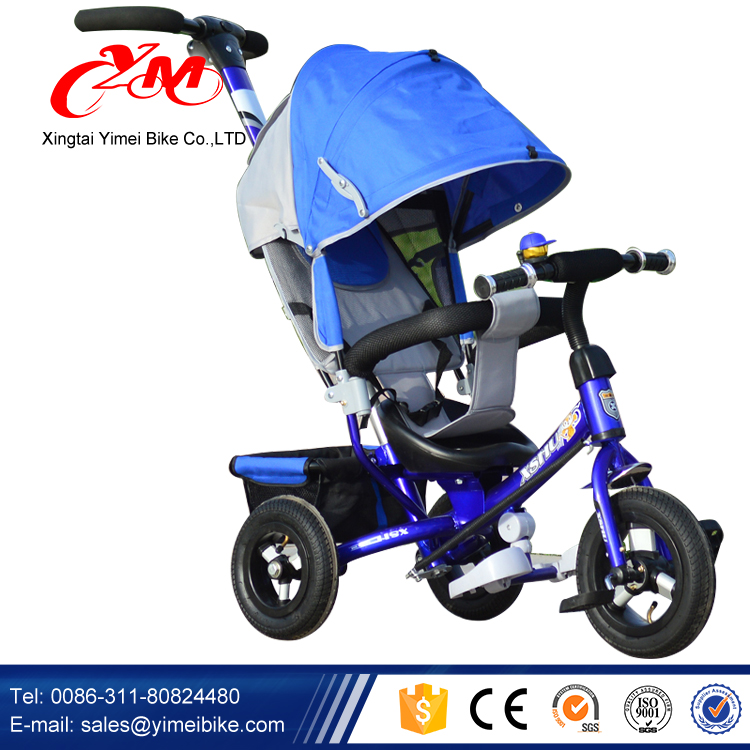 New model kids tricycle for three wheel with light /Baby smart trike with push bar/baby tricycle 2016 for Children 1-6 years