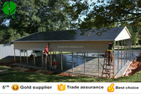 Double carports with steel frame and aluminum frame carport