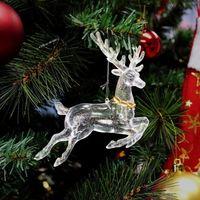 Plastic Glitter Christmas hanging decoration/xmas door ornament