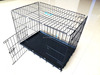 high quality popular plastic powder coated fold dog crate