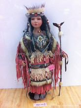 Professional manufacturer Indian style hand made porcelain dolls