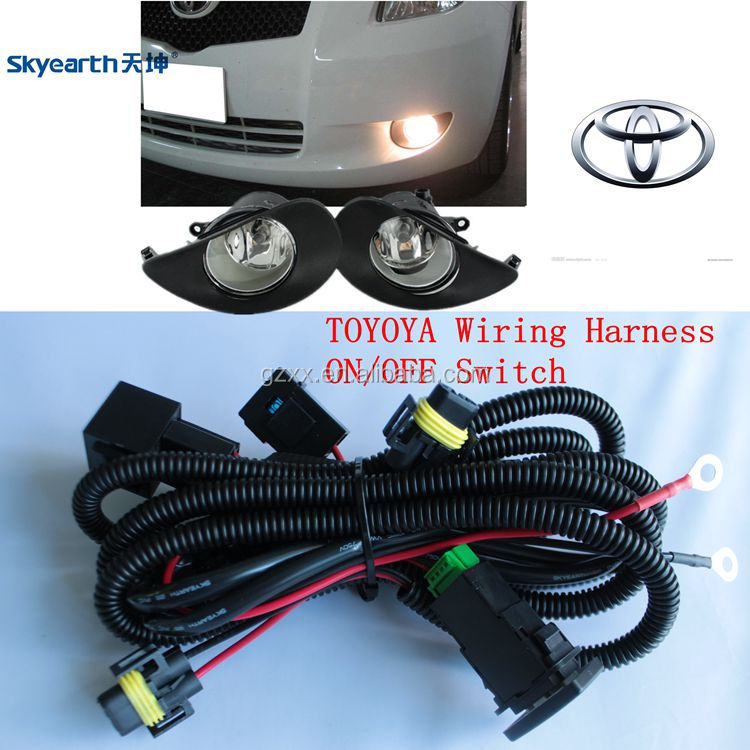 wire harness toyota corolla fog light, one controll two,wiring harness controller