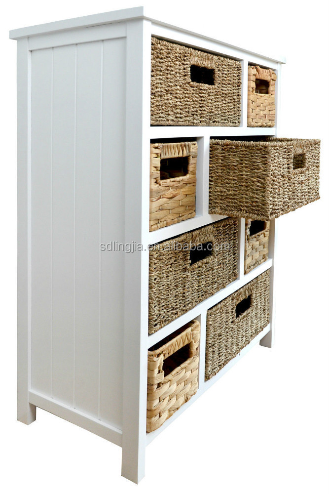 wicker drawers hallway kitchen bathroom storage cabinet buy cabinet