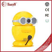 EasyN brand yellow baby monitor two-way audio music play network ip camera video baby monitor