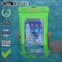PVC waterproof bag for phone or camera with air inflation/Dry phone