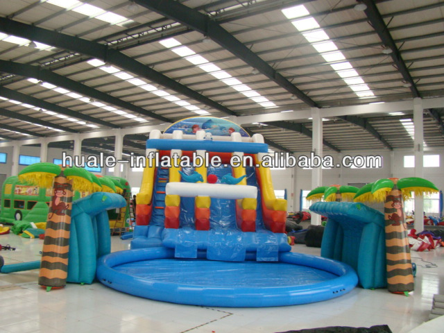 Water Park SLID inflatable bouncer kids play land