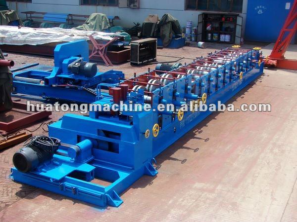 Hot Sales With Flying Cutter C Channel Purlin Forming Machine