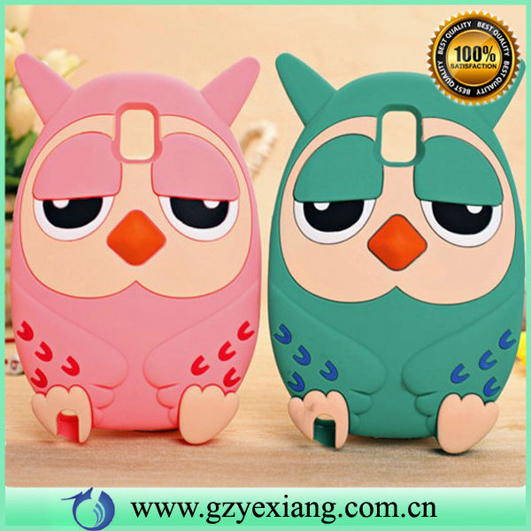 New arrival 3D animal silicon case for samsung galaxy note 3 cute case