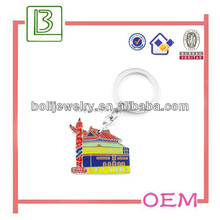 chinese house shape fashion and special enamel keychain for souvenirs