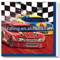 Disposable Party Napkin / Serviette - Nascar Racing