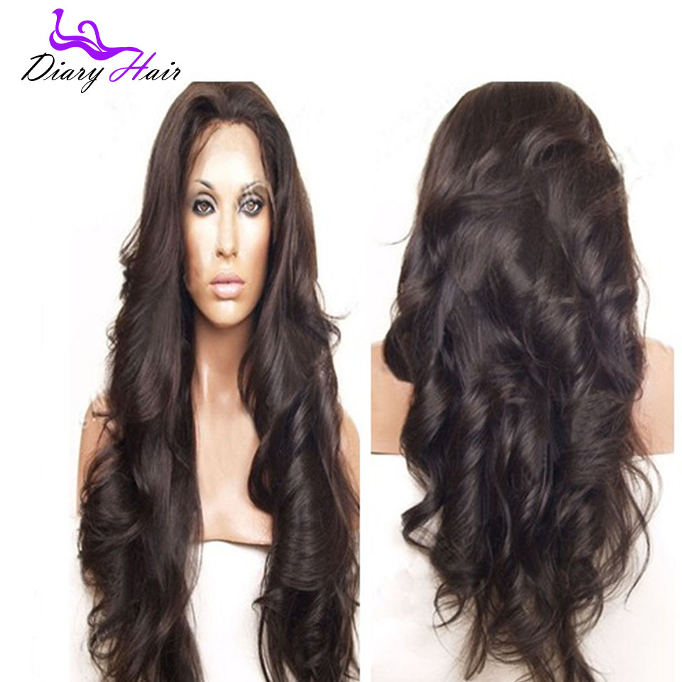 Buy Indian remy body wave full lace wigs  1b unprocessed lace front cheap  human hair wigs affordable curly wave wigs for black women in Cheap Price  on ... 18e71a2ee1