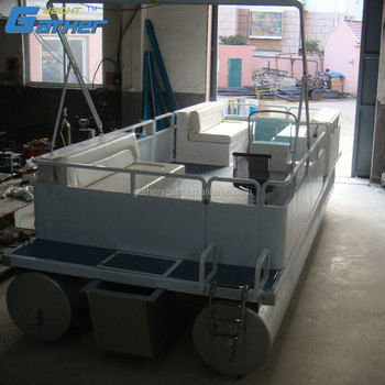 Gather Chinese Manufacturer Best Given Price 5.9m Aluminum Pontoon Boat for sale