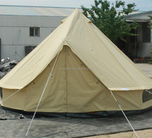 Wholesale 100% cotton canvas 3m 4m 5m 6m 7m Canvas Sahara Bell Tent with double door