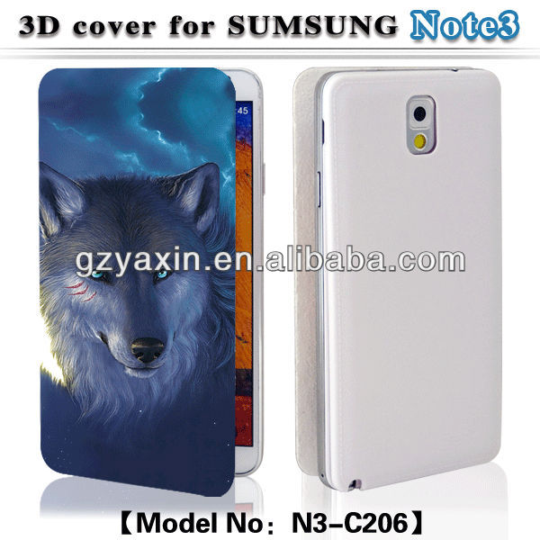 Flip case for samsung galaxy note 3 n9000,3D cartoon leather flip case for samsung galaxy note 3