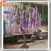 Indoor fake artificial flower tree sale decorative artificial wisteria tree