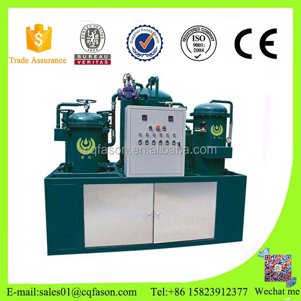 used Hydraulic oil regeneration system / Decoloring black oil recycling machine