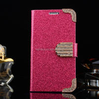 Luxury Bling Sparkle Glitter Diamond Buckle Magnetic Wallet Leather Flip Cover Stand Case for Samsung Galaxy Note3 N9000