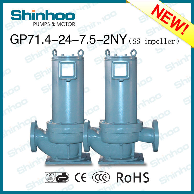 (GP71.4-24-7.5-2NY) STAINLESS STEEL IMPELLER STRUCTURAL STEEL CIRCULATING HOT AND COLD WATER PUMP
