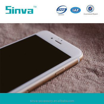 Sinva 2.5D Latest arrival OEM design clear gold tempered glass screen protector factory