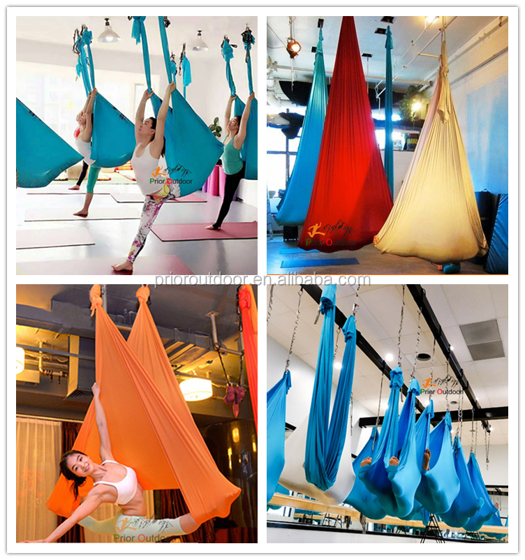 High Quality 100% Nylon Aerial Yoga Hammock With Low Stretch Yoga Sling, Flying Antigravity-Quality Guarantee(See18 colours)