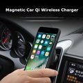 Magnetic Car Mount Qi Wireless Phone Charger For iPhone 8/iPhone X/Samsung S6 S7 S8 Plus S7 Edge Fast Charger