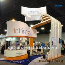 Shanghai detian exhibition booth contractor provide trade how booth design service, stand exposition construction service