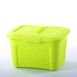 Special offer cheap green plastic picnic basket