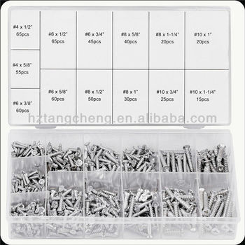 TC 550pc Hardware Assorted Zinc Plated Wood Screw