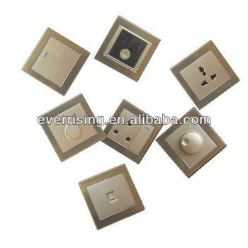Stainless steel metal wall switch