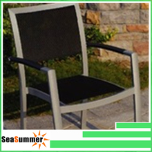 Aluminum chair with sling seat and back