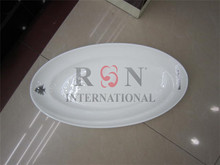 Oval Plain White Dinner Plate Egg Tray Pasta Serving Platter With Custom Logo