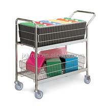 High Quality Double Layers Metal Wire Office Basket Wholesale
