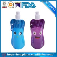 ShenZhen 500ml stand up student water pouch with spout and metal hook