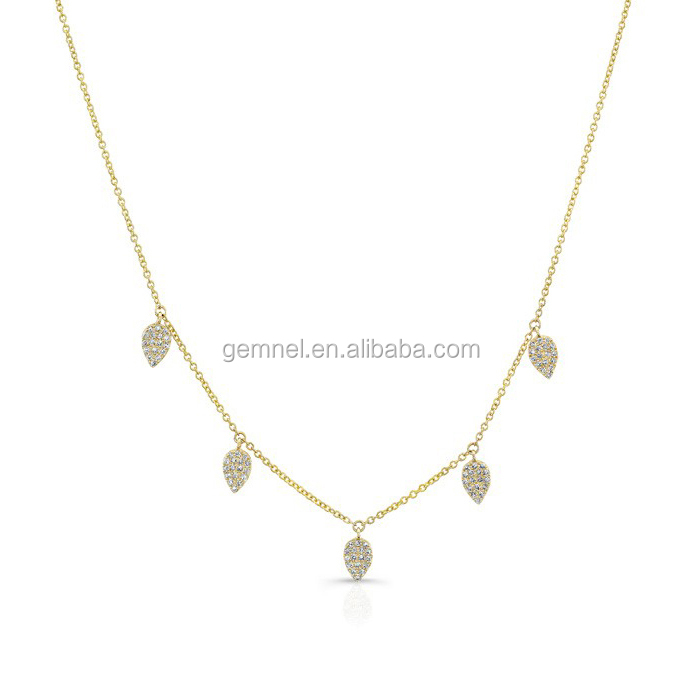 Gemnel jewelry yin yang necklace with cz