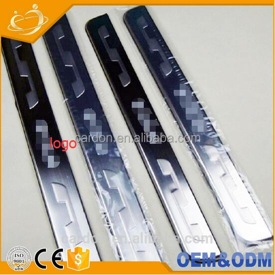 304 STAINLESS STEEL LED Blue LIGHT Illuminated door sill plates Car LED illuminated door sill plate for TOYOTA WISH