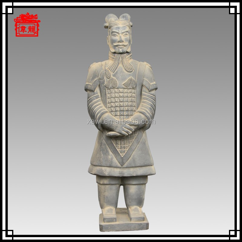 87cm High imitation terracotta warriors General Black pottery