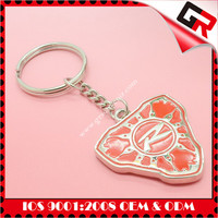 Best quality 3d metal Silkscreen Printed Logo high quality game keychain
