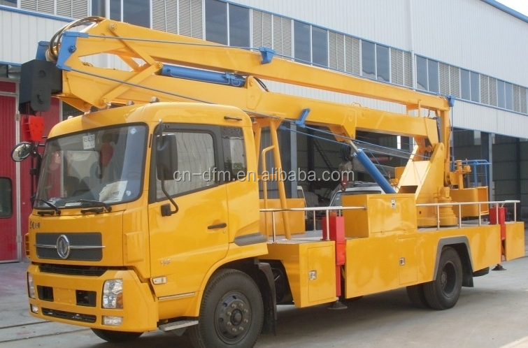 23m small hydraulic telescopic aerial work platform truck for sale