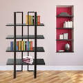 High quality modern free-standing stainless steel book shelf