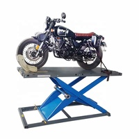H815 450kg retractable wheels available motorcycle lift pneumatic
