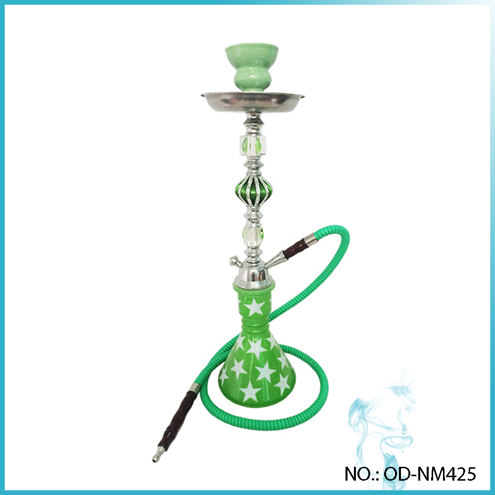 White Bright Stars Wholesale Hookah Narghile Clear Crystal Hookah
