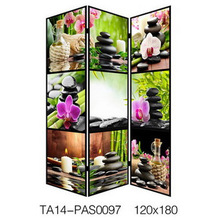 3-Panel Double Sided Painting Room Divider Screen Abstract Wall Art Screen, 71 by 47 by 1-Inch