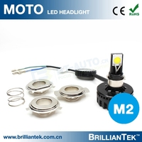 Custom 12v 24v 8-36v Hi Lo Beam Motor LED Spot Light Motorcycle Driving Lights LED COB Chips Head Lights