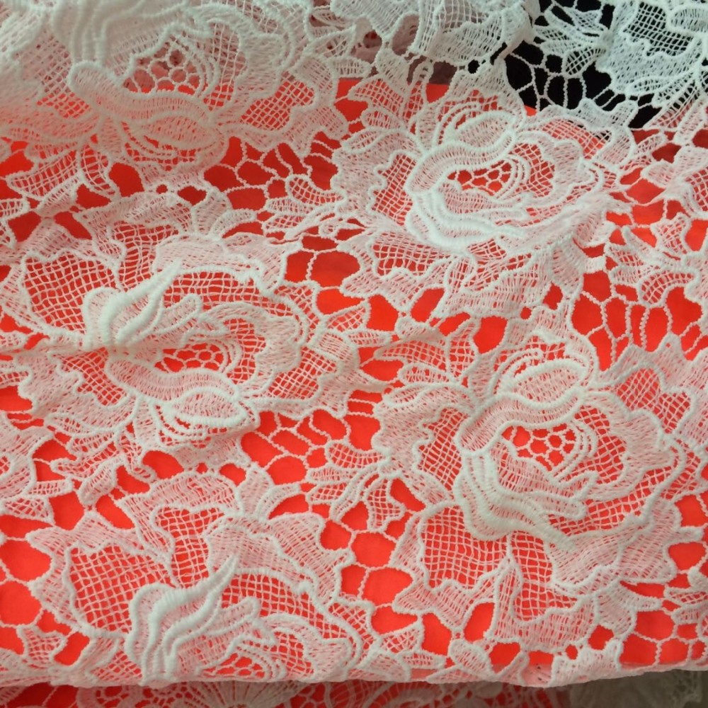 Wholesale aqua chemical lace embroidery fabric guipure